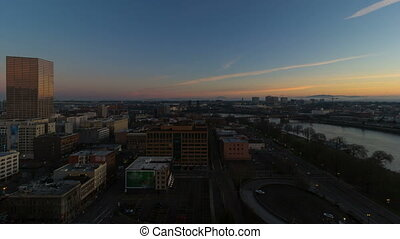 Time Lapse of Sunrise in City 1080p