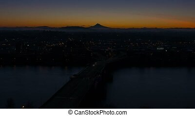 Time Lapse of Sunrise Portland OR