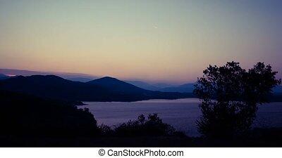 Time Lapse Of Sunset at Jezero Krupac Lake, Montenegro
