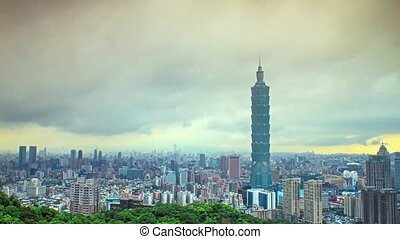 Time lapse of Taipei city view