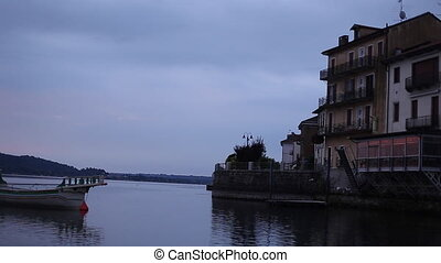 Time Lapse of the Arona City, From Across the River