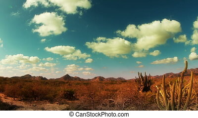 time-lapse of the beautiful desert landscape of baja...