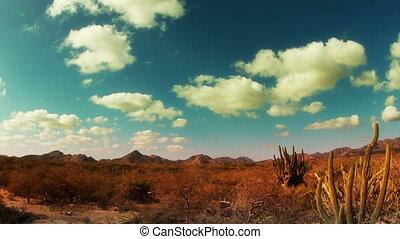 time-lapse of the beautiful desert landscape of baja...