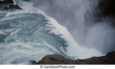 Time lapse of the beautiful Gullfoss waterfall in Iceland....