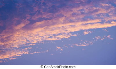 Time-lapse of the colorful sky