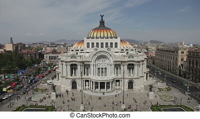 time-lapse of the impressive bellas artes building in mexico...