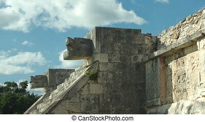 time-lapse of the mayan ruins at chichen itza, mexico. the mayans believe that transformative events will occur on 21 december 2012.