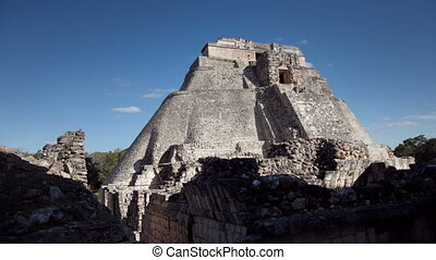 time-lapse of the mayan ruins at uxmal, mexico. the mayans believe that transformative events will occur on 21 december 2012.
