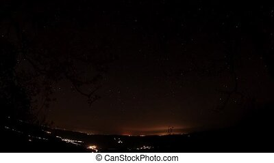 Time lapse of the night sky