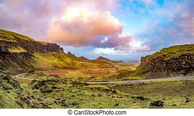 Time lapse of the Quiraing on the Isle of Skye in Scotland...
