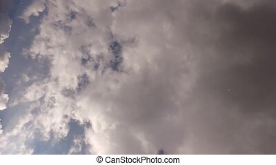 Time-lapse of the sky with clouds on a sunny day