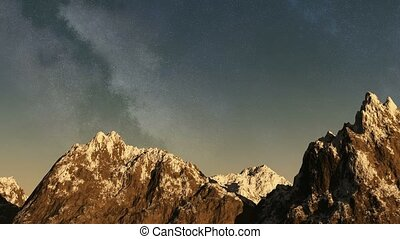 Time lapse of the sunset from night