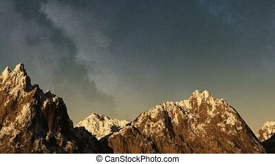Time lapse of the sunset to night