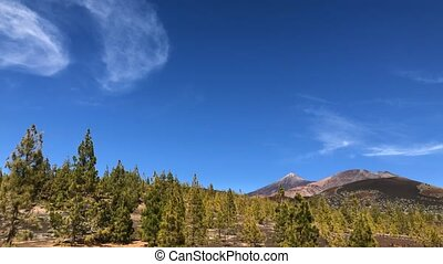 Time lapse of the Teide National Park. Tenerife, Canary ...