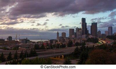 Time Lapse of Traffic in Seattle WA