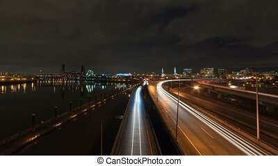 Time lapse of traffic light trails - Ultra high definition...