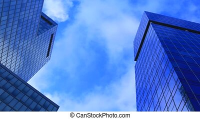 Time lapse Office building on cloudy day