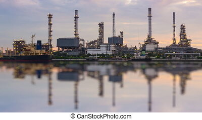 Time Lapse Oil Refinery Station