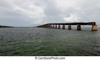 Time Lapse Old Bridge Florida Keys