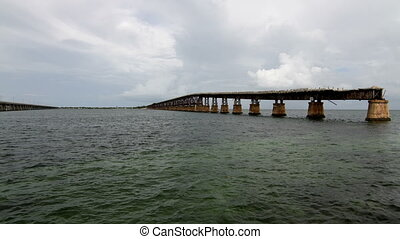 Time Lapse Old Bridge Florida Keys - Time Lapse Old Bridge...