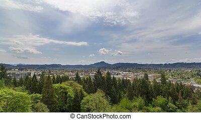 Time lapse over Eugene Oregon 4k