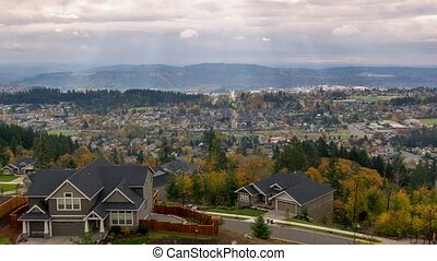Time lapse over Happy Valley Oregon - Time Lapse movie of...