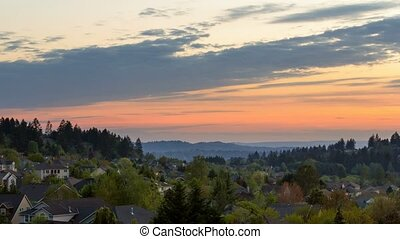Time lapse over Happy Valley Oregon