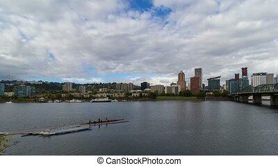 Time lapse over Portland Oregon 4k