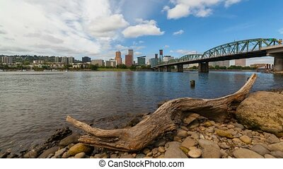 Time lapse over Portland Oregon - Ultra high definition 4k...