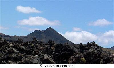 time lapse over vulcan Timanfaya na