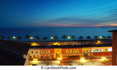 Time lapse panoramic view of Nice