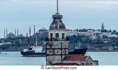 Maiden Tower at cloudy day - Time Lapse Photography, Maiden...