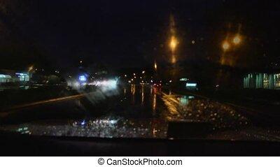 Time lapse rainy drive home