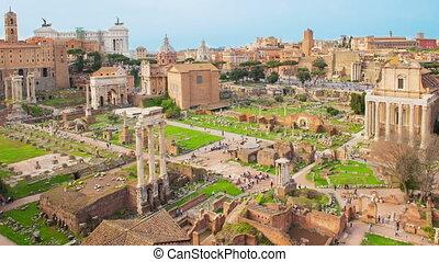 Time lapse Roman Forum