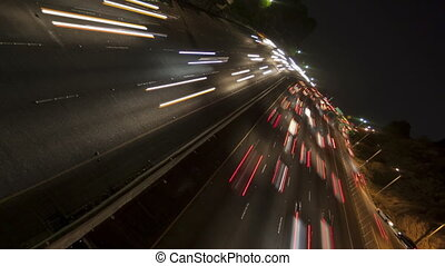 Time lapse rotate freeway light - Time lapse rotate and zoom...