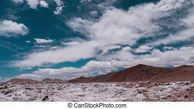 Time Lapse, Salt Desert, Salar De Arizaro, Argentina - There...