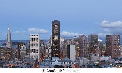 Time lapse San Francisco Twilight