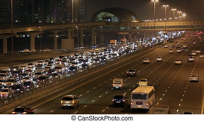 time lapse Sheikh Zayed Road