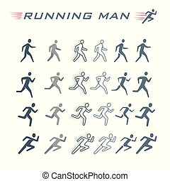 Time-lapse silhouette of a running man.