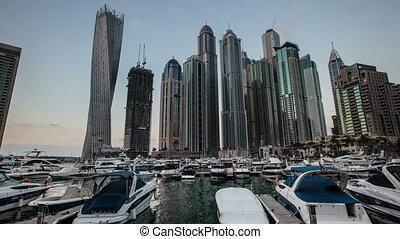 time lapse skyscraper at Dubai