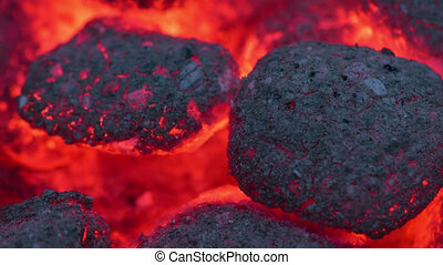 Time-Lapse smoldering coals - Time-Lapse shot of Coals ...