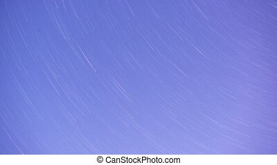 Time lapse star trails on night sky and with a star trail...