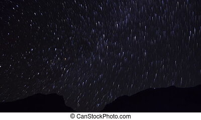 Time-lapse. Stars in the night sky