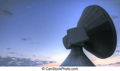 Time lapse sunrise over Satellite S - Time lapse sunrise...