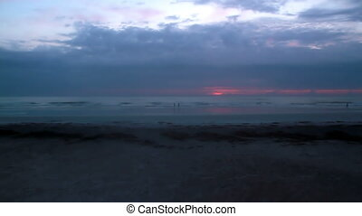 Time lapse sunrise Saint Augustine Florida shot one -...
