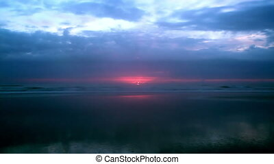 Time lapse sunrise Saint Augustine Florida shot two -...