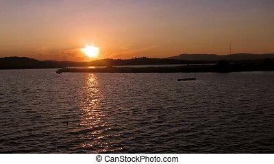 Time lapse: sunset in Corfu
