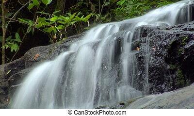 time lapse thai waterfall up loop