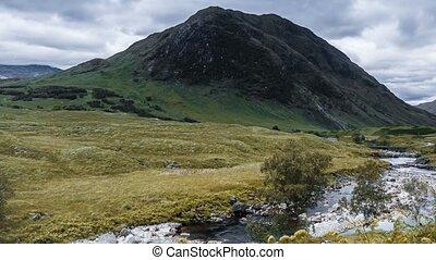 Time Lapse, The Beautiful Glen Etive, Scotland, Pan. James...