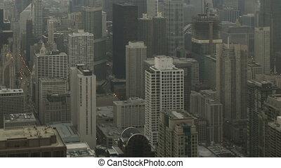Time lapse tilt pan shot Chicago